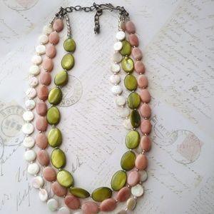 Jewelry - Multi Strand Gemstone/Shell Necklace